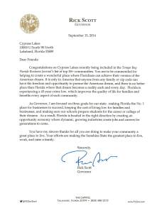 governors letter