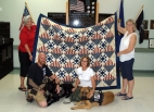 """Quilt of Valor\"" stitched by Cypress Lake resident, Dorothy B."